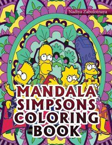 Libro para colorear de los Simpsons de 52 paginas de mandalas Los mejores libros para colorear de los Simpsons