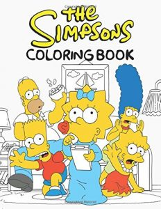 Libro para colorear de los Simpsons de 86 paginas 2 Los mejores libros para colorear de los Simpsons