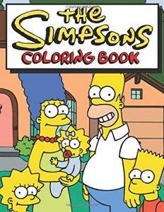 Libro para colorear de los Simpsons de 86 paginas Los mejores libros para colorear de los Simpsons