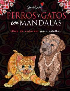 Libro Para Colorear De Mandalas De Perros Y Gatos De 214 Páginas – Los Mejores Libros Para Colorear De Perros Y Animales