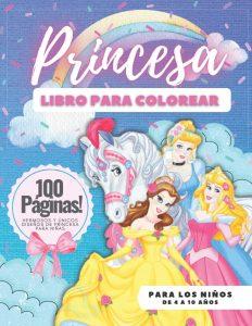 Libro para colorear de princesas de Disney de 100 paginas Los mejores libros para colorear de princesas de Disney