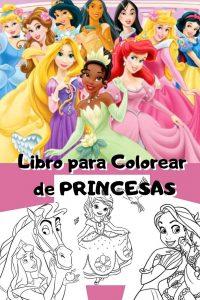 Libro para colorear de princesas de Disney de 101 paginas Los mejores libros para colorear de princesas de Disney