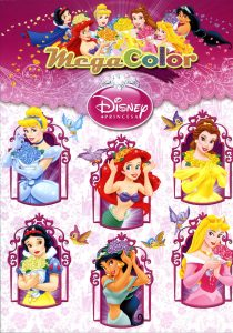 Libro para colorear de princesas de Disney de 192 paginas Los mejores libros para colorear de princesas de Disney