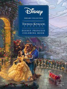Libro para colorear de princesas de Disney de Thomas Kinkdade Los mejores libros para colorear de princesas de Disney