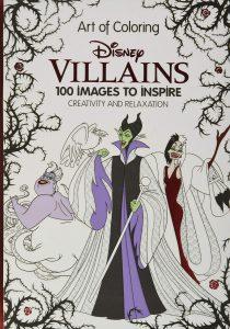 Libro para colorear de villanos de Disney de 96 paginas Art of Coloring Los mejores libros para colorear de villanos de Disney