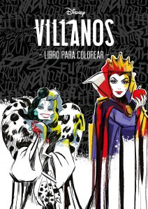 Libro para colorear de villanos de Disney de 96 paginas Los mejores libros para colorear de villanos de Disney
