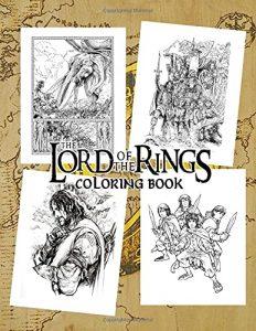 Libro para colorear del Senor de los Anillos de 50 paginas Los mejores libros para colorear del senor de los anillos