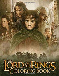 Libro para colorear del Senor de los Anillos de 56 paginas Los mejores libros para colorear de The Lord of the Rings