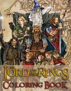 Libro para colorear del Senor de los Anillos de 60 paginas Los mejores libros para colorear del senor de los anillos
