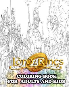 Libro para colorear del Senor de los Anillos de 64 paginas Los mejores libros para colorear de The Lord of the Rings
