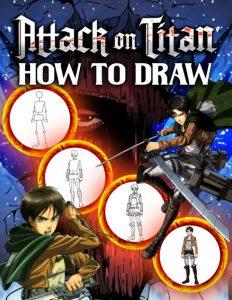 Libro para dibujar de Ataque a los titanes de 108 paginas Los mejores libros para colorear de Ataque a los titanes Attack on titan