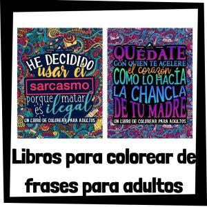 Libros para colorear de frases para adultos Libros de frases para colorear de humor Los mejores libros de humor negro