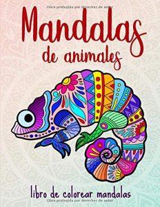 Libro para colorear de 100 animales con mandalas de 50 páginas - Los mejores libros para colorear de animales