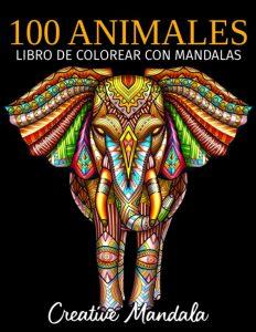 Libro para colorear de 100 animales de 100 páginas 2 - Los mejores libros para colorear de animales