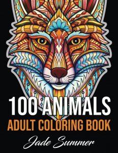 Libro para colorear de 100 animales de 100 páginas adultos - Los mejores libros para colorear de animales