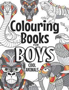 Libro para colorear de 35 Cool animals para adultos - Los mejores libros para colorear de animales
