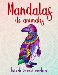 Libro para colorear de 50 mandalas de animales para adultos 2 - Los mejores libros para colorear de animales