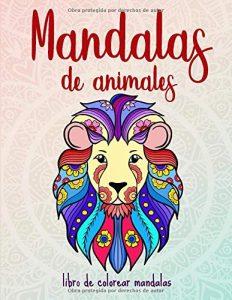 Libro para colorear de 50 mandalas de animales para adultos - Los mejores libros para colorear de animales