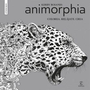 Libro para colorear de Animorphia de animales de 96 páginas - Los mejores libros para colorear de animales