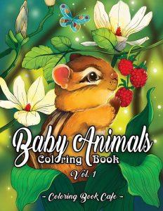 Libro para colorear de Baby Animals de 50 páginas - Los mejores libros para colorear de animales