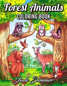 Libro para colorear de Forest Animals de 50 páginas - Los mejores libros para colorear de animales