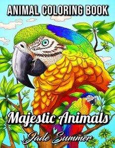 Libro para colorear de Majestic Animals de 50 páginas - Los mejores libros para colorear de animales