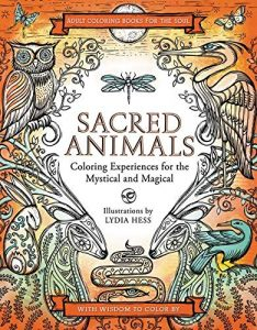 Libro para colorear de Sacred Animals de 40 páginas - Los mejores libros para colorear de animales