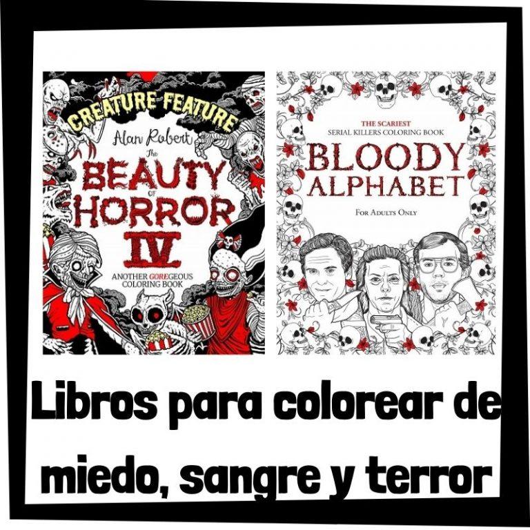 Lee más sobre el artículo Libros para colorear de miedo, sangre y horror para adultos